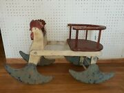 Rare Rock A Tot Childand039s Rocking Toy Mengel Playthings All-wood Rooster 1924