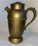 National Silver On Copper Coffee/tea Pot Or Vintage Barware 10andrdquo Tall