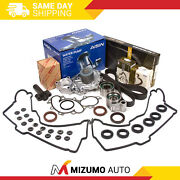 Timing Belt Kit Valve Cover Fit Tensioner Water Pump W/o Pipe Toyota 3.4l 5vzfe