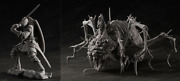 Dark Souls Senior Knight And Chaos Witch Quelaag Figures Unpainted Assembly Kit