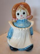 Metlox Poppytrail Pottery Raggedy Ann Cookie Jar Marked And Label 11h Mid Century
