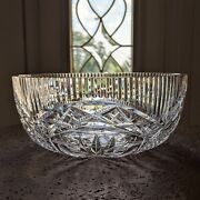 Waterford Crystal Master Cutter Salad Bowl 8 Elaborate Complex Makes Statement