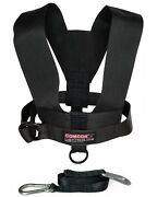 Comcor Minimalist Sled Harness Vest - Made In Usa - Includes 9 Foot Pull Strap.
