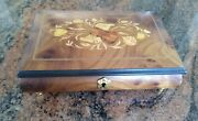 Notturno Quality Wood Collectible Music Jewelry Box - Made In Italy