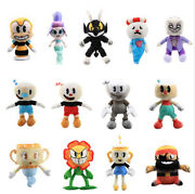 Cuphead Mugman Ghost Chalice Devil Boss King Dice Plush Figures Baby Doll Toy Gy