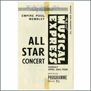 Beatles / Rolling Stones 1964 Nme Poll-winners All-star Concert Programme Uk