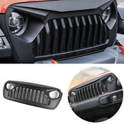 For 2018-2020 Jeep Wrangler Jl Black Exterior Front Grille Grill Cover Trim 1pcs