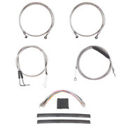Stainless +10 Cable And Brake Line Mstr Kit 2011-2015 Harley Softail W/abs