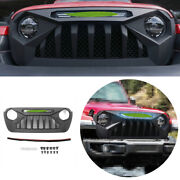 For 2018-2020 Jeep Wrangler Jl Black Abs Front Central Grille Grill Decoration