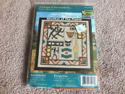Nellie T Counted Cross Stitch Kit Africa Alive Fabric 12x12 Unopened Cute