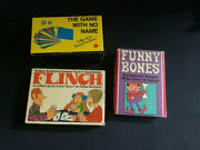Lot Of 3 Board Games Flinch, Funny Bones And The Game With No Game