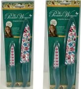 Set Of 2 The Pioneer Woman Gorgeous Garden Stainless Steel Paring And Chef Knives