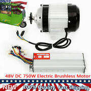 48v Electric Brushless Reduction Motor For Bicycle 14-tooth Gear 750w+controller