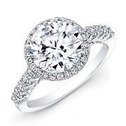 1.42 Ct Round Cut Natural Diamond 14k Solid White Gold Wedding Rings Size 6 7