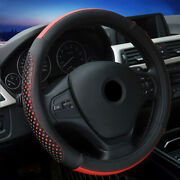 15and03938cm Car Steering Wheel Cover Microfiber Leather Air Breathable Non-slip Grip