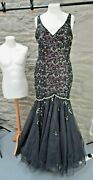 Stunning Ball Gown/prom Dress Black And Purple Size 12. Used