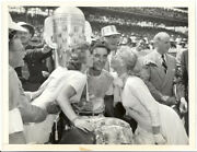 Takes A Buss After '500' Victory 1954 Bill Vukovich, Marie Wilson Photo