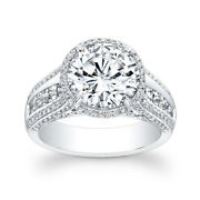 Brilliant Cut 1.70 Ct Natural Diamond 14k White Gold Engagement Rings Size 6 7 8