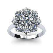 Real Diamond Round Cut 1.20 Ct 14k White Gold Engagement Rings Size 6 7