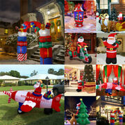 Christmas Inflatable Led Light Flying Airplane Reindeer Electric Blow-up Yard