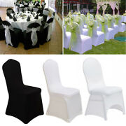 100andtimes White Strong Spandex Universal Wedding Banquet Chair Cover Meeting Dining R