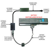 External Laptop Battery Charger For Toshiba Satellite Pro C650 C660 Pa3817u-1brs