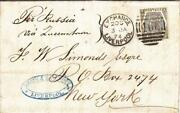 1874 Liverpoolengland To New York Ny See Remark 37482