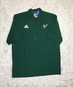 Adidas Ncaa Usf Bulls 1/4 Zip Menandrsquos Size Med Sideline Tee Shirt Pullover Green