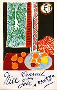 Nice Travail And Joie By Henri Matisse 1947 Original Stone Lithograph