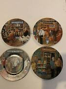 """Guy Buffet """"tuscan Storefront"""" Porcelain Dinner Plates. Set Of 4 Or Individual."""