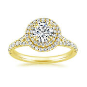 14k Solid Yellow Gold Real Diamond Round Cut 1.00 Ct Wedding Ring Size 6 7 8