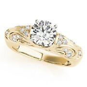 Brilliant Cut 0.70 Ct Natural Diamond 14k Yellow Gold Engagement Rings Size 5 6