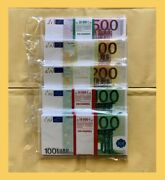 Souvenir Banknote 500 200 100 Euro. Set 5 Package. New.the Size Is Smaller.
