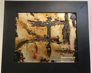 Edward Michell Mixed Media Abstract Mystical Driven Framed On Board