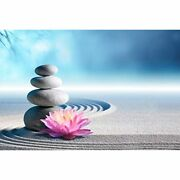 Icnbuys 1000 Piece Wooden Jigsaw Puzzle For Adults, Relaxing River Rocks Zen 20