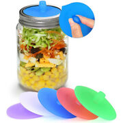 5x Silicone Waterless Fermenting Airlock Lids Ring Caps For Mason Jar Wide Mouth