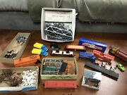Vintage Toy Lot. Trains, Tressle, Cars, Signs, Horse And Buggy, Structures, Trucks