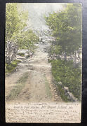 1905 Sutton Me Usa Picture Postcard Cover To White Plans Ny Road To Seal Harbor