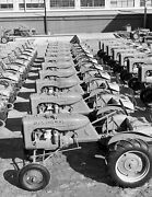 1940 Rows Of Allis-chalmers Tractors, Oklahoma Old Photo 8.5 X 11 Reprint