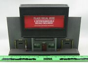 Menards Ho Scale Warehouse Background Building Prototype With Dog And Worker