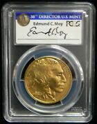 2017 50 Gold American Buffalo Pcgs Ms70 First Strike Ed Moy Auto Tag Sp53