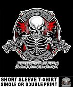 Old School Muscle Hot Rod Outlaw Biker V Twin Motorcycle Rider Skull T-shirt O19