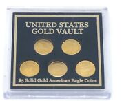 2017 United States Gold Vault 5 Coin Set