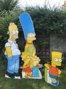 Rare Limited Edition Homer Marge Bart Lisa Maggie Simpson Life Size Cardboard Cu