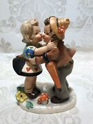 Cortendorf Vintage Figurine Girl Kisses Boy 1930-1950 Mint