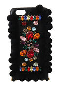 Dolce And Gabbana Phone Case Cover Black Leather Crystals Studs Iphone6 1700