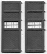 14'6x19 Roundhouse Doors - Windows And Hinges Ho Model Railroad Structure Gl5133