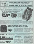 1981 Heathkit Air Navigation Computer, Electronic Products Two-page Flyer Ads