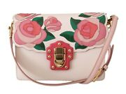 Dolce And Gabbana Bag Purse Lucia Pink Roses Leather Shoulder Hand Borse Rrp 3000