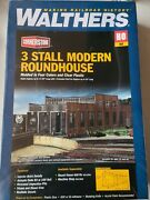 Ho Scale Walthers Cornerstone 933-2900 3-stall Modern Roundhouse Building Kit
